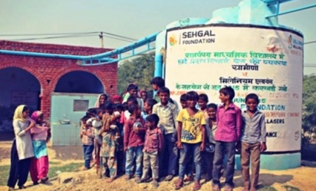 High-pressure recharge wells were installed in four schools by Sehgal Foundation