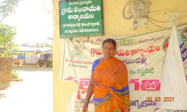 Suguna, the village head and president of Appaipally, an active member of Women Farmers Club